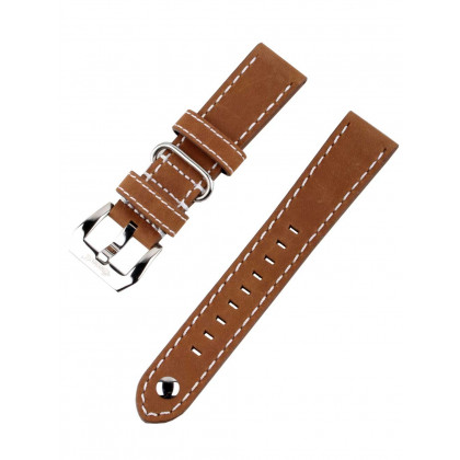 Ingersoll Bison strap [22 mm] brown with silver clasp ref. 25051