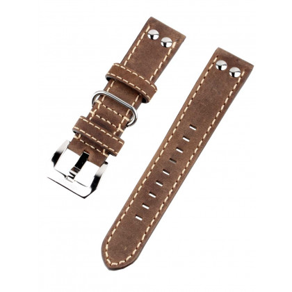 Ingersoll Bison Replacement Strap [22 mm] brown + silver buckle Ref. 25054