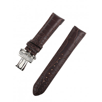 Ingersoll replacement strap [22 mm] brown silver clasp Ref. 27179
