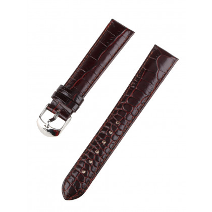 Ingersoll replacement strap [18 mm] brown silver clasp Ref. 27185