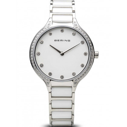 Bering 30434-754 ceramic ladies watch 34mm 3ATM
