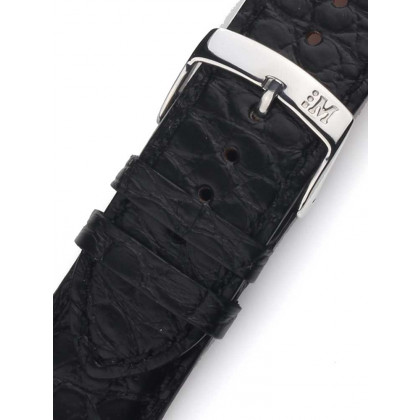 Morellato A01U3932A68019CR18 Black alligator Watch Strap 18mm