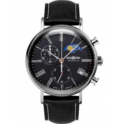 Zeppelin 7194-2 Rome moon phase chrono 41mm 5ATM