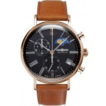 Zeppelin 7196-2 Rome moon phase chrono 41mm 5ATM