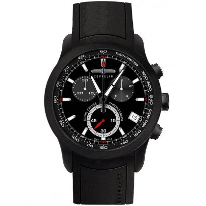 Zeppelin Night Cruise 7290-2 Men's Watch Black Chronograph 43 mm