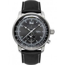 Zeppelin 7640-2 dual time men`s watch 100 years 43mm 5ATM