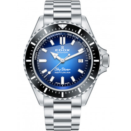 Edox 80120-3NM-BUIDN Skydiver Neptunian automatic 44mm 100ATM