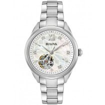 Bulova 96P181 classic automatic ladies watch 34mm 3ATM