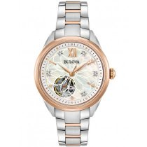 Bulova 98P170 classic automatic ladies watch 34mm 3ATM