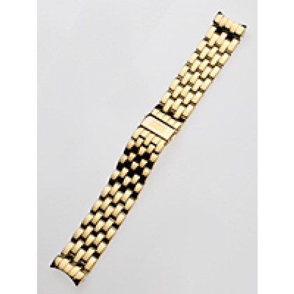 Perigaum Replacement Strap P-0901 22 x 190 mm Gold Folding Clasp