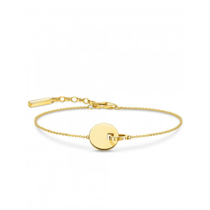 Thomas Sabo bracelet Glam & Soul A1934-413-39-L19v together coin with ring gold ladies