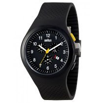Braun BN0115BKBKBKG Men's Chronograph with Silicone Strap