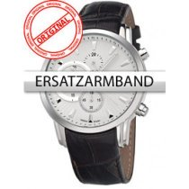 Bossart Replacement Strap Leather BW-1104 Brown Silver Clasp