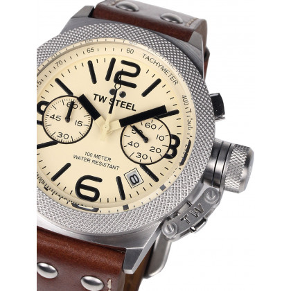 TW-Steel CS13 Canteen Leather Chronograph 45mm 10 ATM