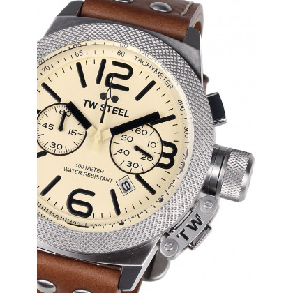 TW-Steel CS14 Canteen Leather Chronograph 50mm 10 ATM