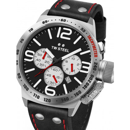 TW Steel CS7 Canteen Leather Chronograph 45mm 10 ATM