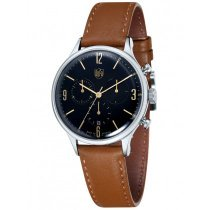 DuFa DF-9002-02 Van der Rohe Men's Chronograph 38mm 3 ATM
