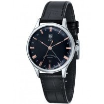 DuFa DF-9006-01 Weimar Men's Watch GMT 38mm 3 ATM