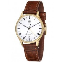 DuFa DF-9006-03 Weimar Men's Watch GMT 38mm 3 ATM