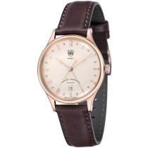 DuFa DF-9006-07 Weimar Men's Watch GMT 38mm 3 ATM
