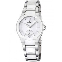 Festina Ceramic F16588/1 Ladies White Silver 32 mm