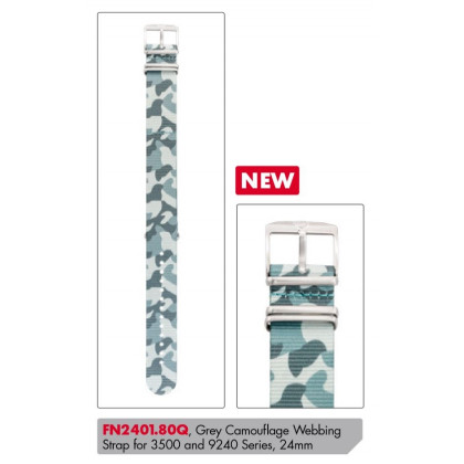 Luminox textil replacement strap FN2401.80Q [24 mm] camouflage w. silver clasp