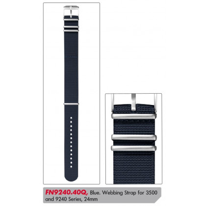 Luminox textil replacement strap FN9240.40Q [24 mm] blue w. silver clasp