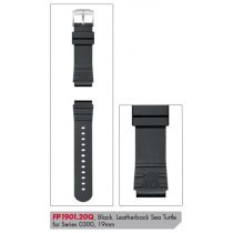 Luminox PU Replacement Strap FP.1901.20Q [19 mm] black + silver Buckle