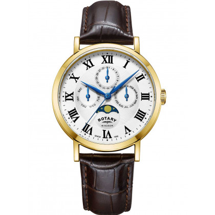 Rotary GS05325/01 Windsor men`s watch 40mm 5ATM