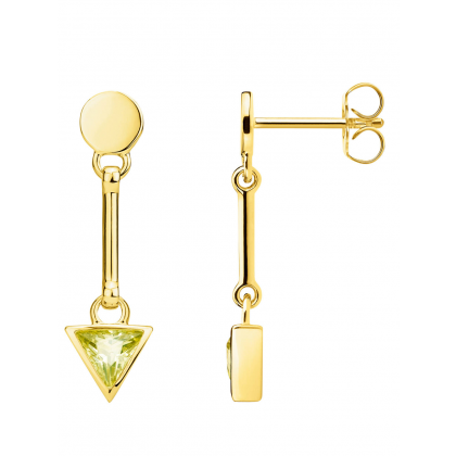 Thomas Sabo earring Glam & Soul H2038-414-33 triangle green