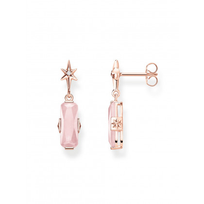 Thomas Sabo earring Glam & Soul H2107-417-9 pink stone with star