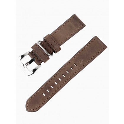 Ingersoll strap [22 mm] brown with silver clasp ref. IN3225CR