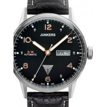 Junkers G38 6966-5 Day-Date Automatic Silver, Black 10 ATM 42 mm