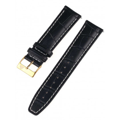 Rothenschild mid-17757 Universal Strap 22mm Black, Gold buckle