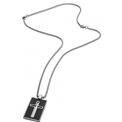 Police PJ26385PSS.01 necklace Noss cross 70cm, adjustable