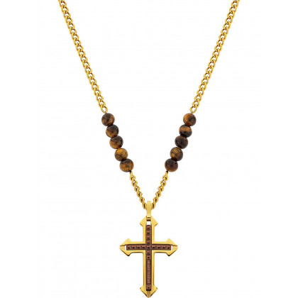 Police PJ26568PSG.02 necklace Cuillin cross 70cm, adjustable