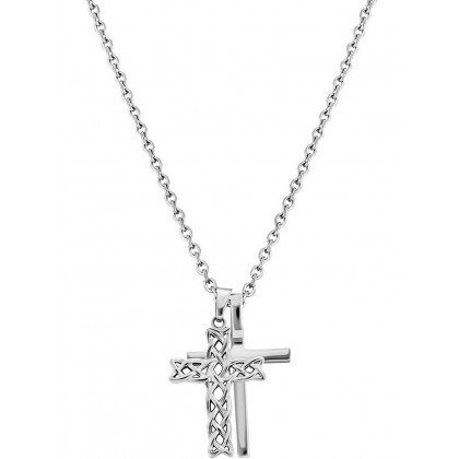 Police PJ26571PSS.01 necklace Struve cross 70cm, adjustable