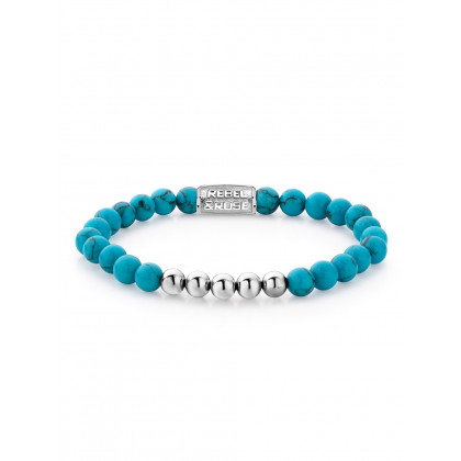 Rebel & Rose bracelet Turquoise Delight RR-60009-S-16.5 ladies
