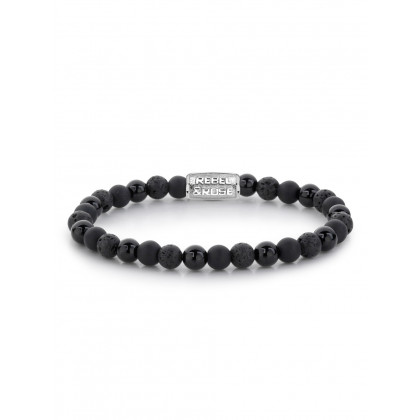 Rebel & Rose bracelet Black Rocks RR-60033-S-S ladies