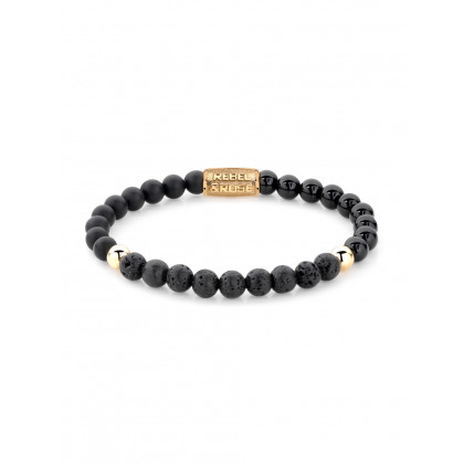 Rebel & Rose bracelet Black Beauty RR-60045-G-S ladies
