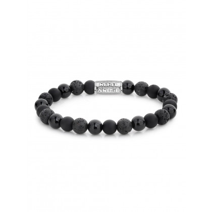 Rebel & Rose bracelet Black Rocks RR-80041-S-M men`s