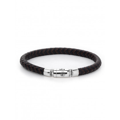 Rebel & Rose bracelet Half Round Braided  RR-L0061-S-L men`s