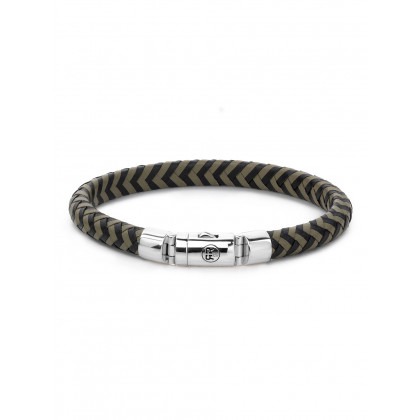 Rebel & Rose bracelet Black-Olive RR-L0062-S-L men`s