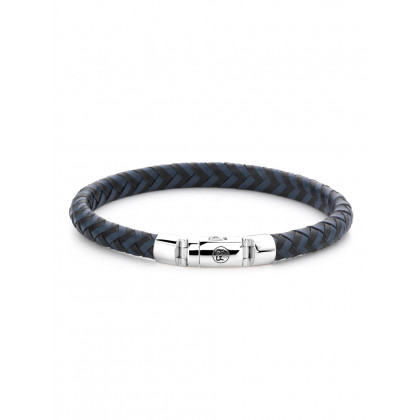 Rebel & Rose bracelet Half Round Braided RR-L0063-S-L men`s