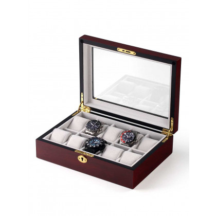Rothenschild Watch Box RS-1087-10C for 10 Watches Cherry