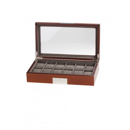 Rothenschild watch box RS-2350-12MA for 12 watch brown