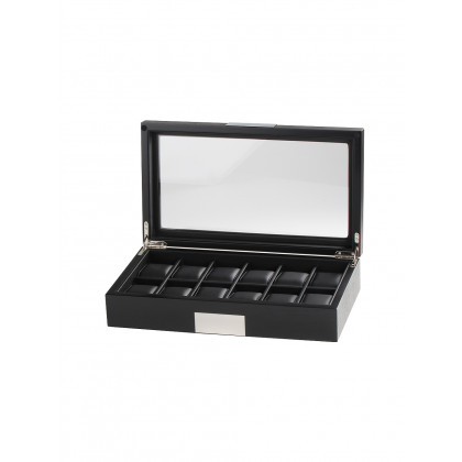 Rothenschild watch box RS-2350-12BL for 12 watches black