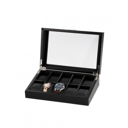 Rothenschild Watch Box RS-2375-10OAK For 10 Watches black