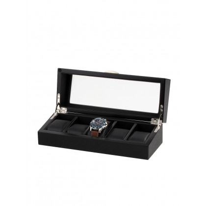 Rothenschild Watch Box RS-2375-5OAK For 5 Watches black