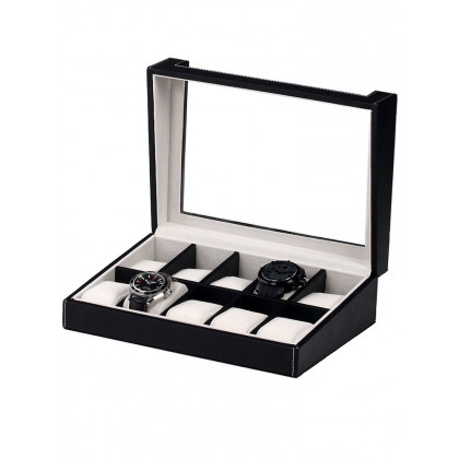 Rothenschild Watch Box RS-3041-10BL for 10 Watches Black